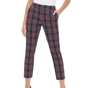 NWT Tommy Hilfiger Midnight Plaid Crop Pants 16